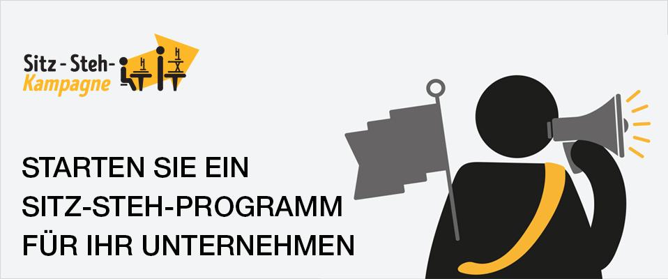 Starten Sie ein Sitz-Steh-Programm für Ihr Unternehmen