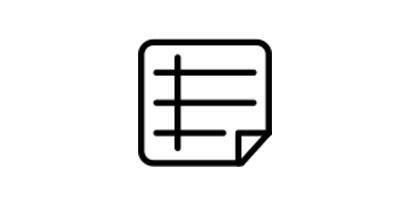 Technical data icon