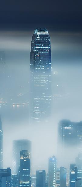 Wieżowiec w smogu