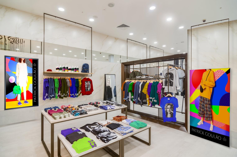 Dekoration af high end tøjbutik med HP Latex 700-800