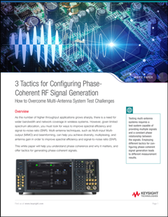 Thumbnail of white paper: Tactics for Configuring Phase-Coherent RF Signal Generation