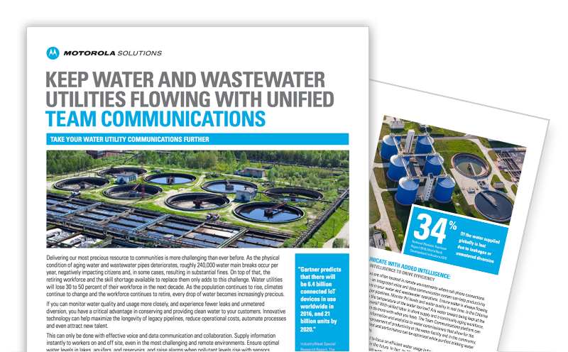 Keep Water and Wastewater Utilities Flowing With Unified Team Communications
