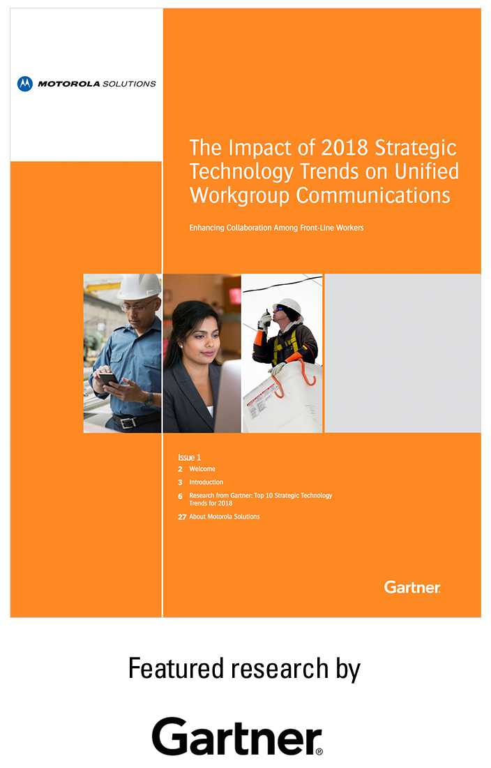 The Impact of 2018 Strategic Technology Trends on Unified Workgroup Communications