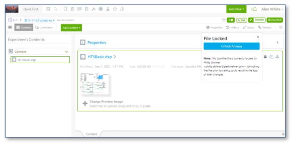 Spotfire File Locking